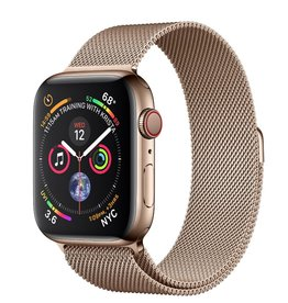 Apple Apple Watch 4 GPS + Cellular, 40mm Gold Stainless Steel Case with Gold Milanese Loop