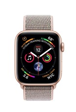 Apple Apple Watch Series 4 GPS + Cellular , 44mm Gold Aluminum  Case with Pink Sand Sport Loop