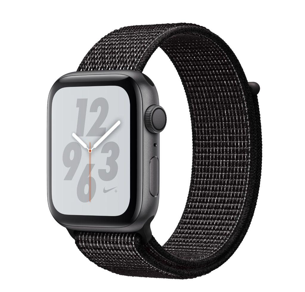 Apple Apple Watch Nike+ Series 4 GPS, 44mm Space Gray Aluminum Case w/Black Sport Loop