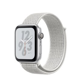 Apple Apple Watch Nike+Cellular 44mm Silver Aluminum w/ white sport loop