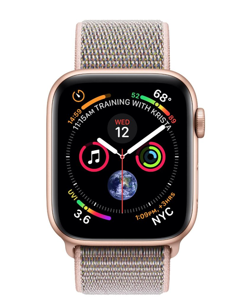 Apple Apple Watch 4 GPS 44mm Gold Aluminum Case with Pink Sand Sport Loop
