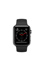 Apple AppleWatch Series 3 GPS + Cellular 38mm Space Black w/Black Sports Band