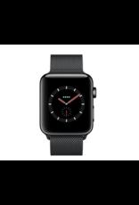 Apple Applewatch series3 GPS+Cell 38mm space black stainless steel w/black milanese loop