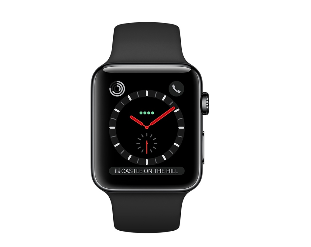 Apple AppleWatch Series 3 GPS+Cellular 42mm Space Black Stainless Steel w/ Black Sport Band