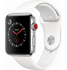 Apple AppleWatch Series 3 GPS+Cellular - 42mm - Stainless Steel