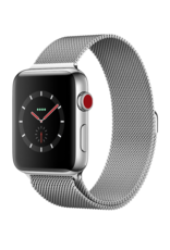 Apple Applewatch series 3 GPS+Cellular Stainless Steel w/Milanese Loop