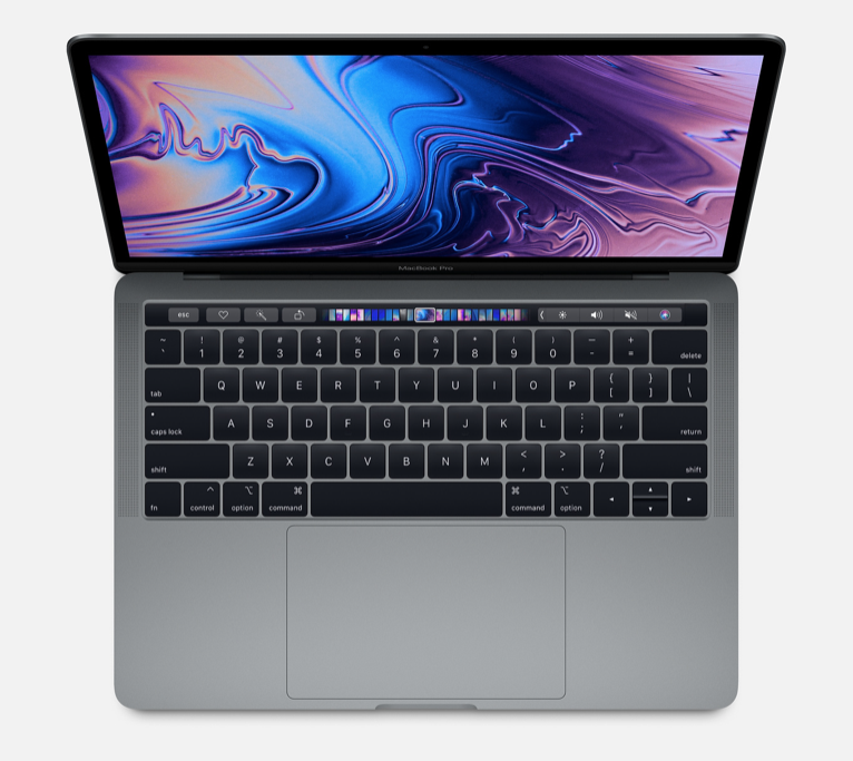 "Apple 13"" Macbook Pro w/ touch bar - 256GB - Space Gray - 2019"