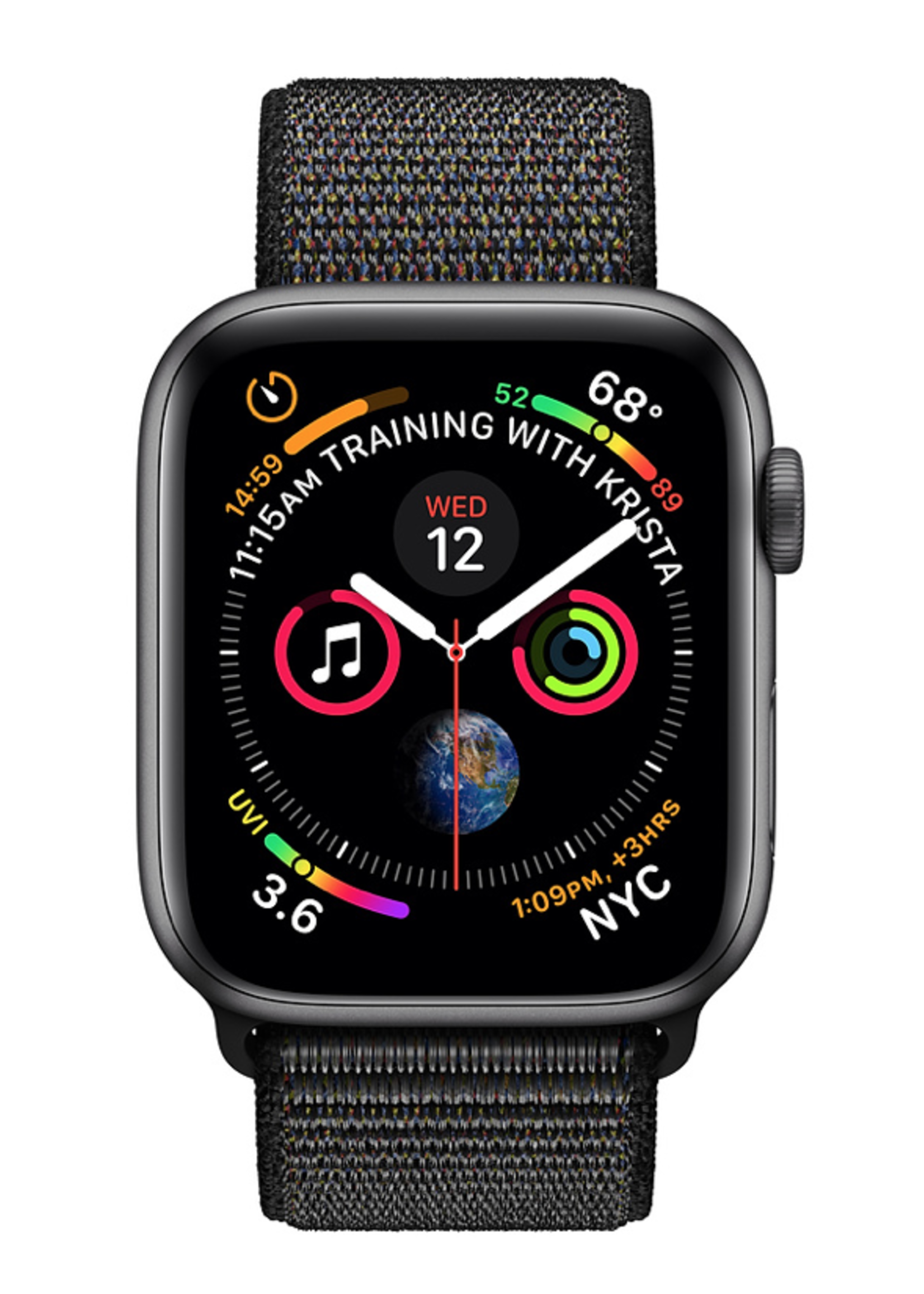 Apple Watch 4 GPS + Cellular 40 mm Space Grey Aluminum Case with Black Sport Loop