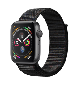 Apple Apple Watch 4 GPS, 40 mm Space Grey Aluminum Case with Black Sport Loop