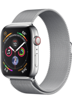 Apple Watch 4 GPS + Cellular 40 mm Silver Stainless Steel Case with Milanese Loop