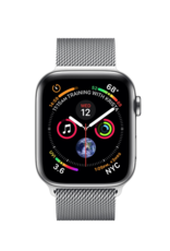 Apple Apple Watch 4 GPS + Cellular 40 mm Silver Stainless Steel Case with Milanese Loop