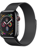 Apple Watch Series 4 GPS + Cellular, 40mm Space Black Stainless Steel Case with Space Black Milanese Loop