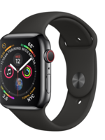 Apple Watch 4 GPS + Cellular 40 mm Space Black  Stainless Steel Case with Black Sport Band