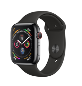 Apple Apple Watch 4 GPS + Cellular 40 mm Space Black  Stainless Steel Case with Black Sport Band