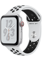 Apple Watch Nike+ Series 4 GPS + Cellular, 40mm Silver Aluminum Case with Pure Platinum/Black Nike Sport Band