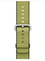 38mm/40mm Dark Olive check woven nylon