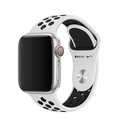 Apple 38mm/40mm Pure Platinum/Black Nike Band
