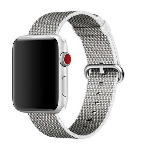 Apple 42mm/44mm white check woven nylon
