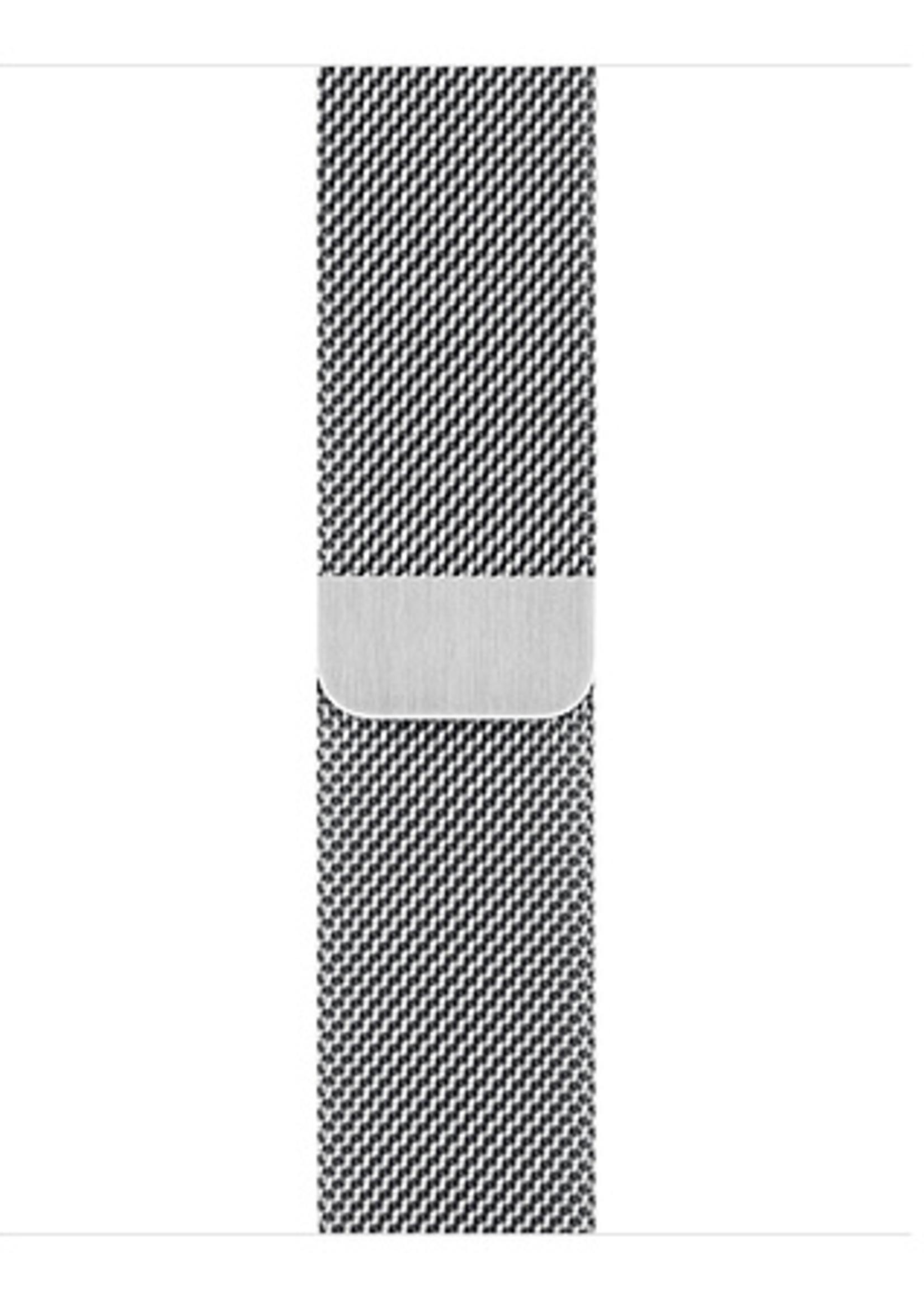 42mm/44mm Silver Milanese Loop