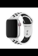 Apple 42mm/44mm Pure Platinum / Black Nike Band
