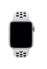 Apple 42mm/44mm Pure Platinum / Black Nike Band