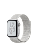 Apple Apple Watch Nike+ Series 4 GPS, 40mm Silver Aluminum Case with Summit White Nike Sport Loop