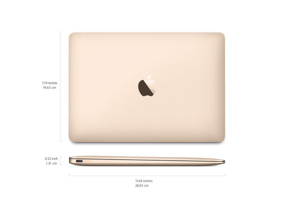 "Apple 12"" Macbook - 8GB - 256GB - 2017 (Gold)"