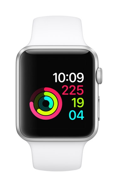 Apple AppleWatch Series 1 42mm Silver Aluminum w/ White Sports Band