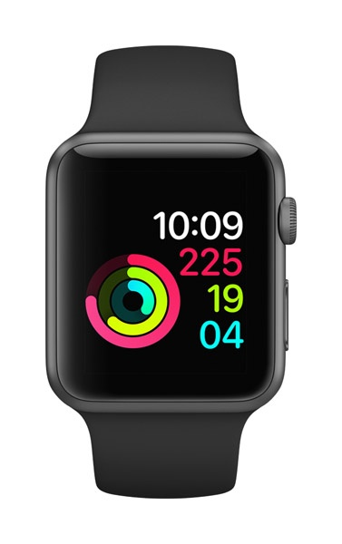 Apple AppleWatch Series 1 42mm Space Gray Aluminum w/ Black Sports Band