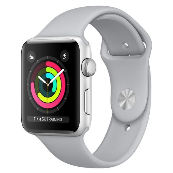Apple AppleWatch Series 3 GPS 42mm Silver Aluminum w/ Fog Sports Band