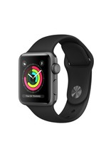 Apple Apple Watch Series3 GPS 38mm Space Gray Aluminum w Black Sport Band