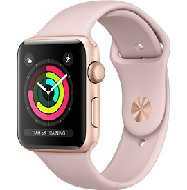 Apple Applewatch Series3 GPS 38mm Gold aluminum w/pink sand band