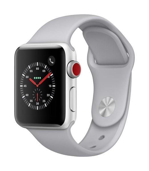 Apple AppleWatch Series 3 GPS+Cellular 42mm Silver Aluminum w/ Fog Sport Band