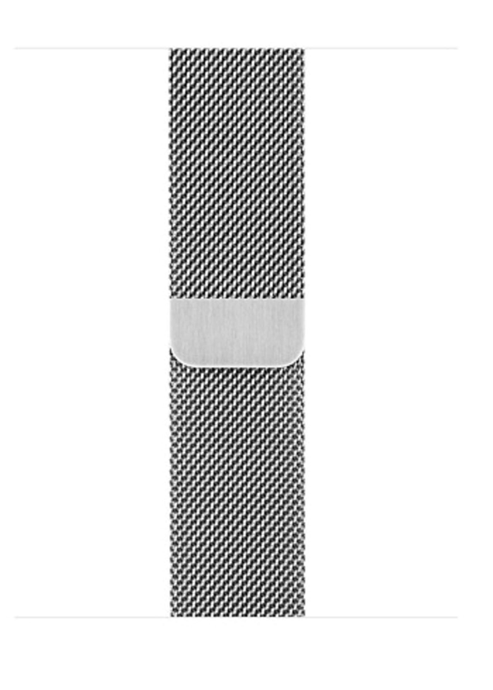 38mm/40mm Silver milanese loop