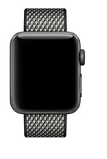 Apple 42mm black check woven nylon