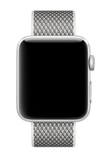 Apple 42mm white check woven nylon