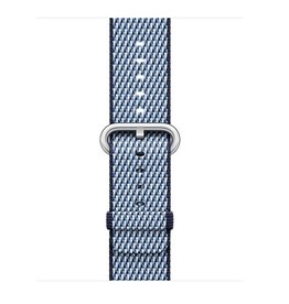 Apple Midnight Blue Check Woven Nylon - 38mm