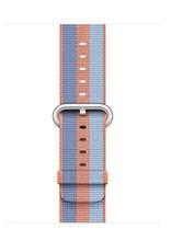 Apple Orange Stripe Woven Nylon - 38mm