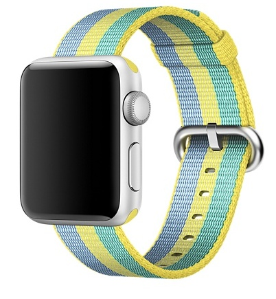 Apple 38mm pollen stripe woven nylon