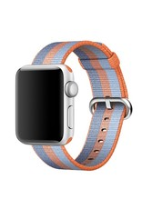 Apple 42mm/44mm Orange stripe woven nylon