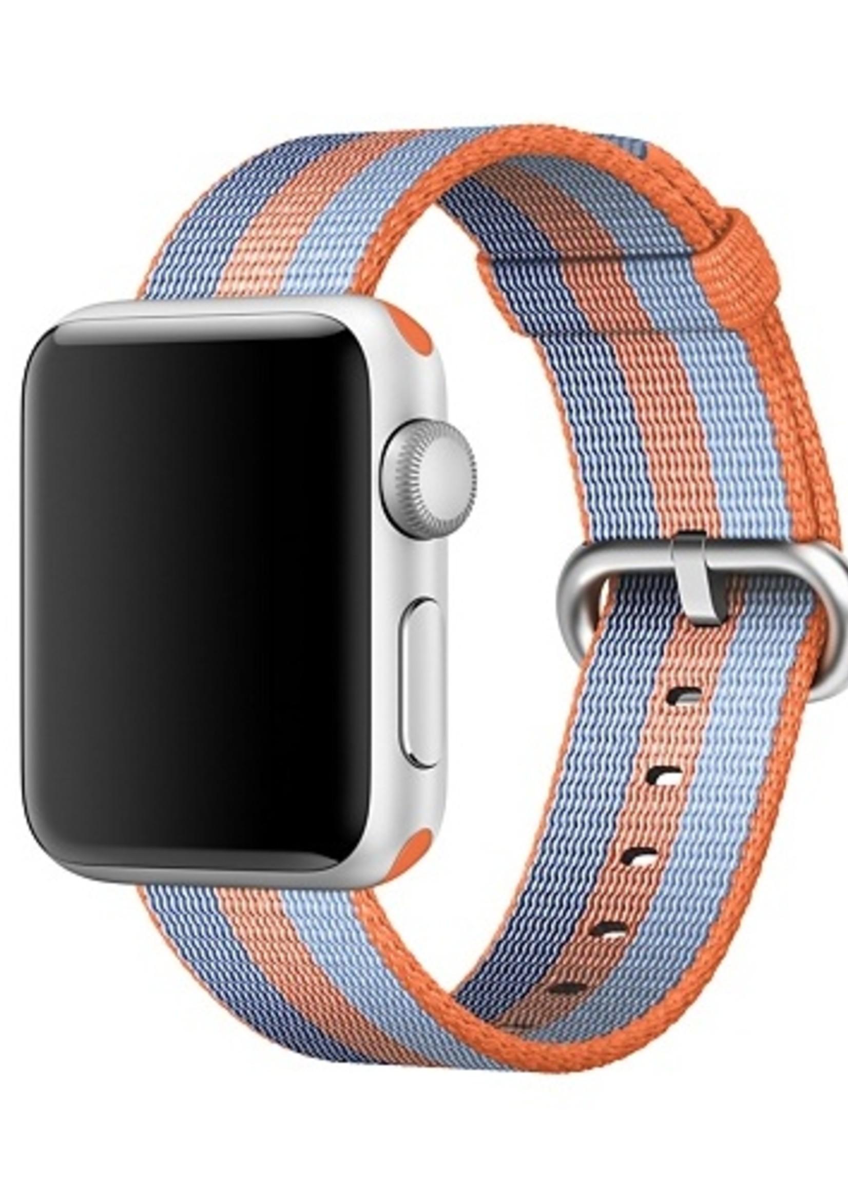 42mm/44mm Orange stripe woven nylon