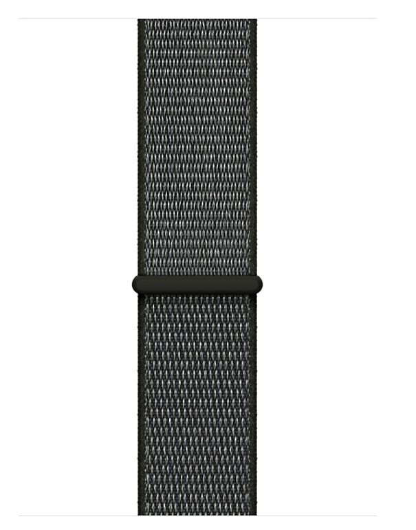 Apple Apple Watch Series 3 - GPS + Cellular - 42mm - Space Gray Aluminum Case with Dark Olive Sport Loop