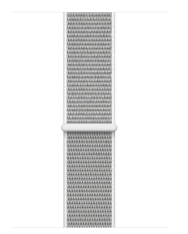 Apple AppleWatch Series 3 GPS+Cellular 42mm Silver Aluminum w/ Seashell Sport Loop Band