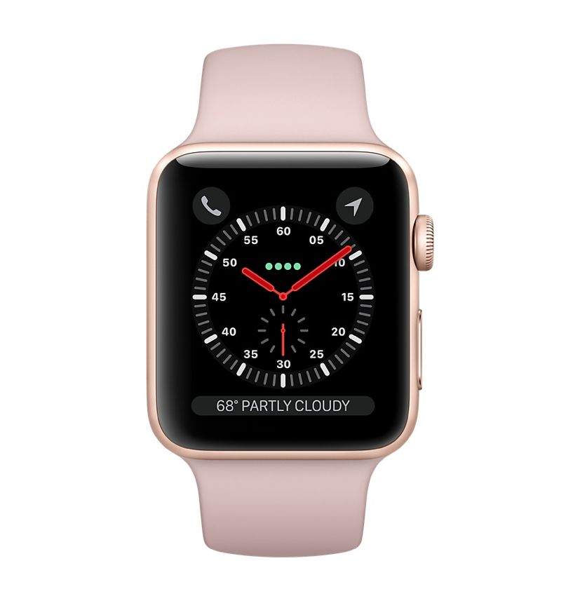 Apple AppleWatch Series 3 GPS+Cellular 42mm Gold Aluminum w/ Pink Sand Sport Band
