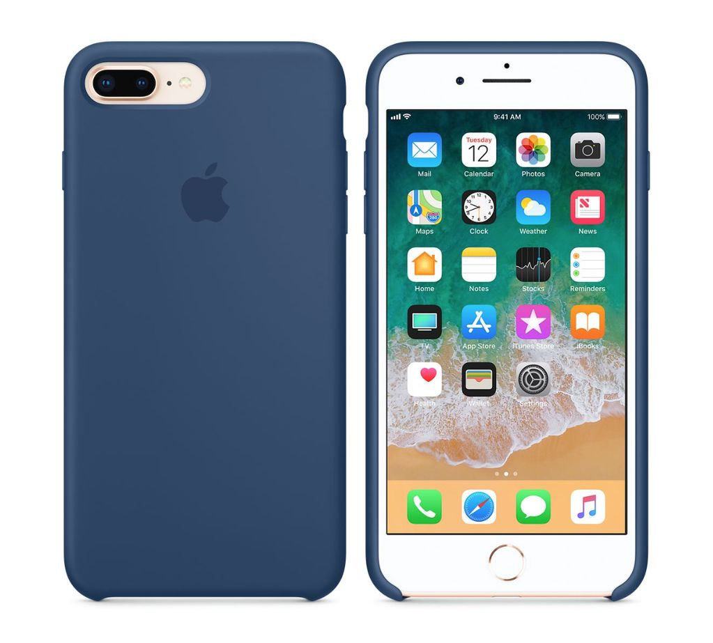 competitive price 73747 0428c iPhone 8 Plus/7 Plus Silicone Case - Blue Cobalt