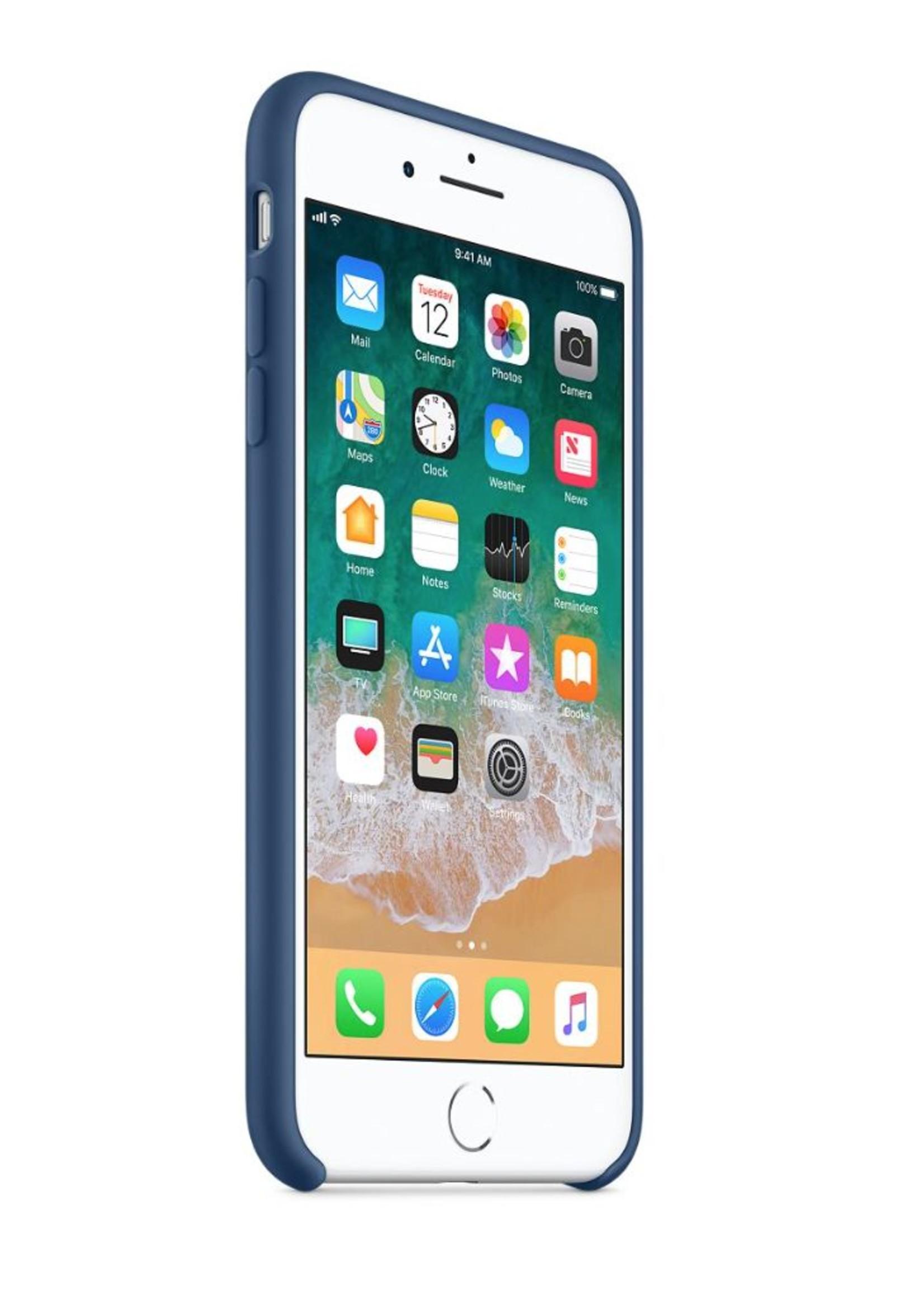 iPhone 8 Plus/7 Plus Silicone Case - Blue Cobalt