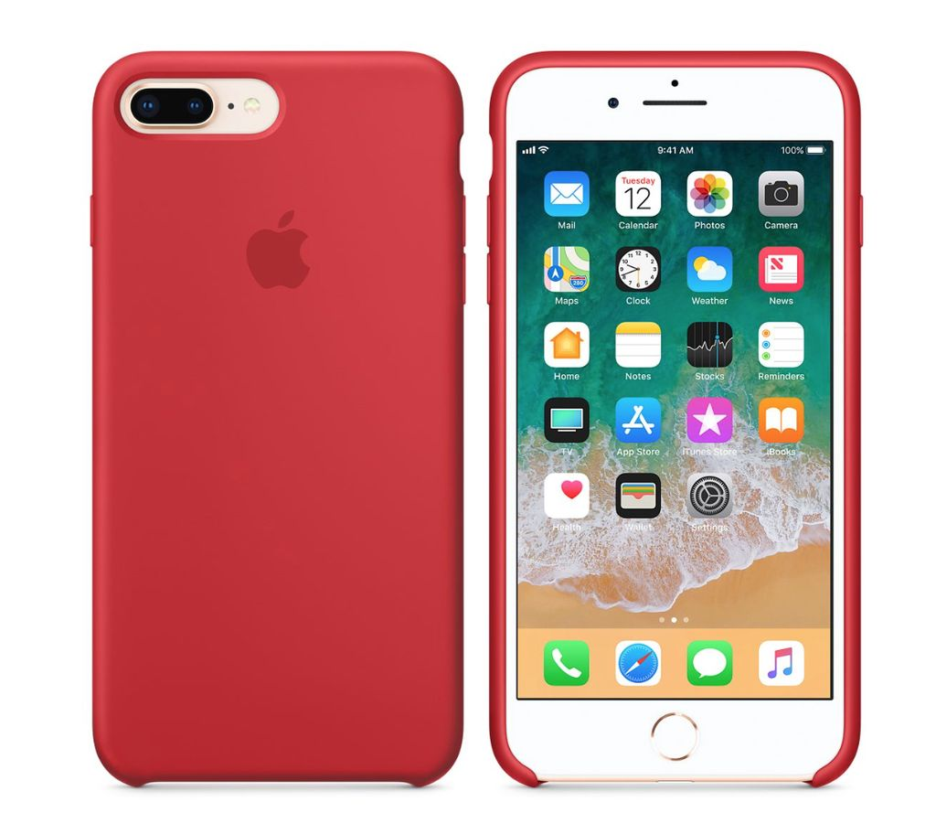 Apple iPhone 8 Plus/7 Plus Silicone Case - Product Red