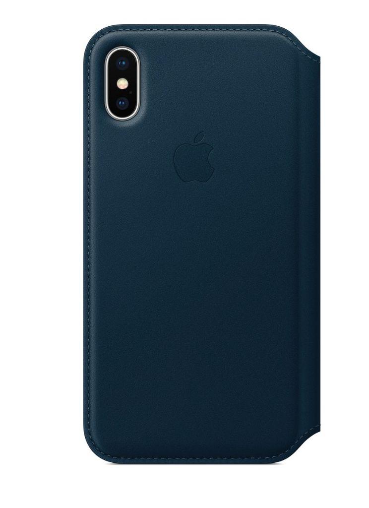 Apple iPhone X Leather Folio - Cosmos Blue