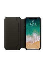 Apple iPhone X Leather Folio - Black