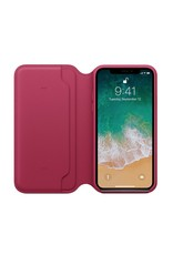 Apple iPhone X Leather Folio - Berry